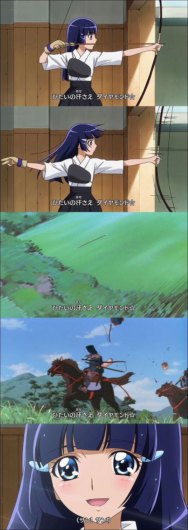 達人!『プリキュア』のキュアビューティーこと青木れいかの弓道の腕前(笑)【面白画像】animanga_0001