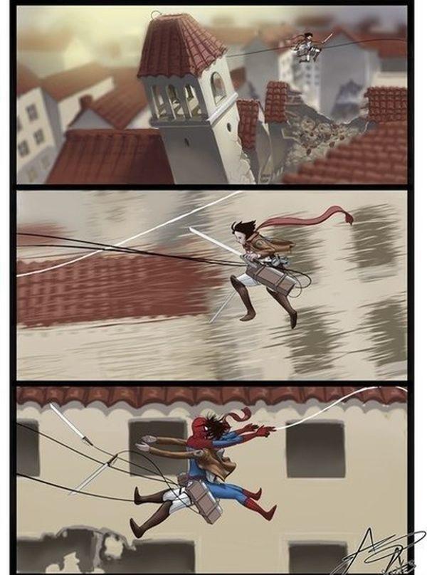 衝突!『進撃の巨人』の調査兵団が使用するフックショットを街中で多用すると・・・(笑)【面白画像】animanga_0008