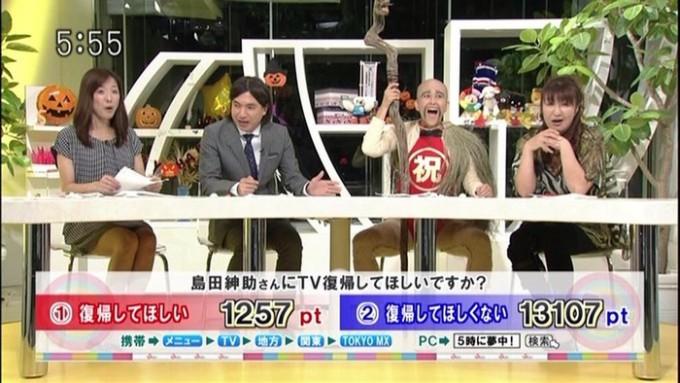 【テレビおもしろ画像】テレビで「島田紳助さんにTV復帰してほしいですか?」とアンケートした結果(笑)