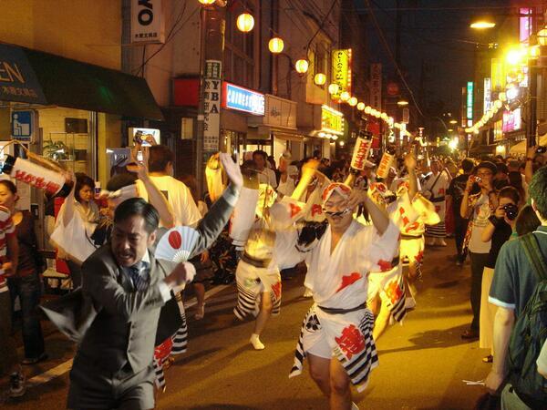 【テレビ半沢直樹おもしろ画像】お祭りに飛び入り参加した『半沢直樹』の大和田常務
