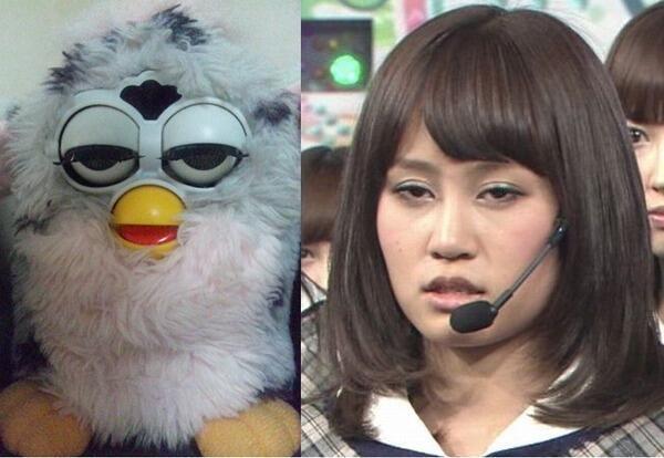 【面白画像】眠そう! 元AKB48前田敦子がおもちゃの「ファービー」と完全一致(笑)<iti_0005