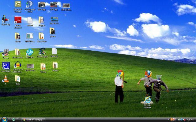 面白画像 いじめ! パソコンのデスクトップ大草原で行われているInternet Explorerへの集団リンチ(笑)netsns_0015