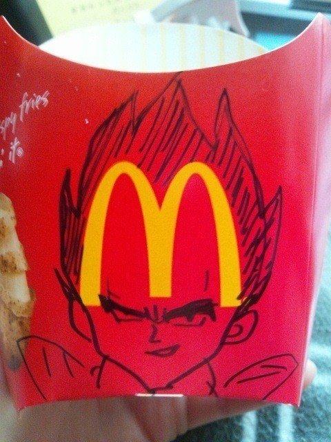 面白画像 マックポテトの箱に書いてある「M」、『ドラゴンボール』で見た事あります(笑)animanga_0022