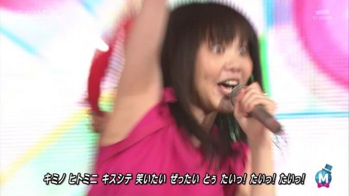 【テレビおもしろ画像】いきものがかりの吉岡聖恵が『じょいふる』歌っている時の一コマが漫☆画太郎(笑)