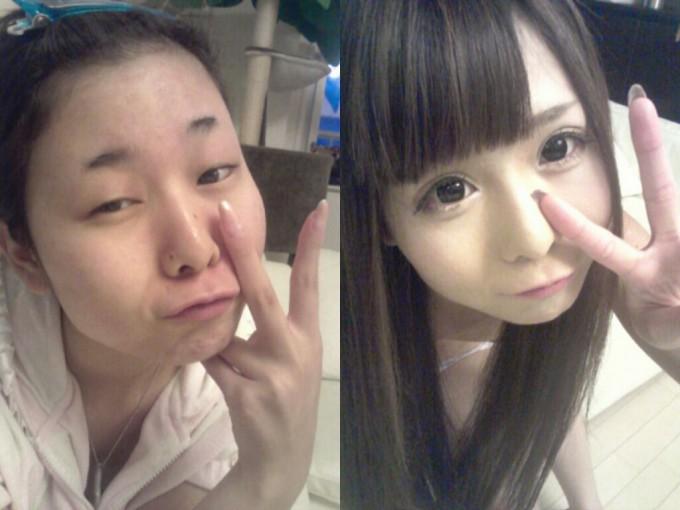 面白画像 ニコ生主 砂糖るきさんの化粧前と化粧後が別人すぎます(笑)beauty_0024