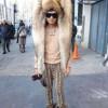 新種の動物? なんの動物の毛皮か分からない個性的すぎるファッション(笑)