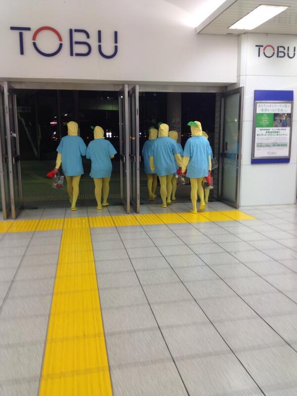 面白画像 ふなっしー? 10月30日ハロウィンに、船橋駅でふなっしーの仮装をした集団が目撃される(笑)chara_0028