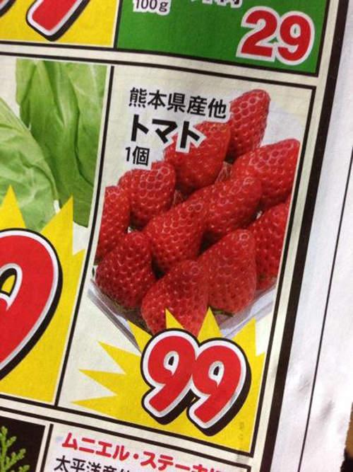 面白画像 トマト! スーパーのチラシに載っていた熊本県産他トマト1個99円(笑)misswrite_0031