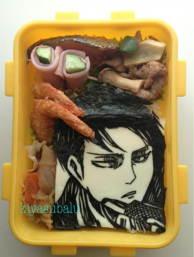 【食べ物おもしろ画像】食べるのが惜しい! 『進撃の巨人』のリヴァイ兵長お弁当のクオリティが高すぎます(笑)animanga_0043