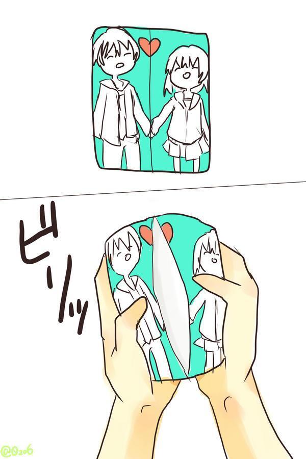 面白画像 仲良いカップルが描かれたポケットティッシュ(笑) animanga_0056