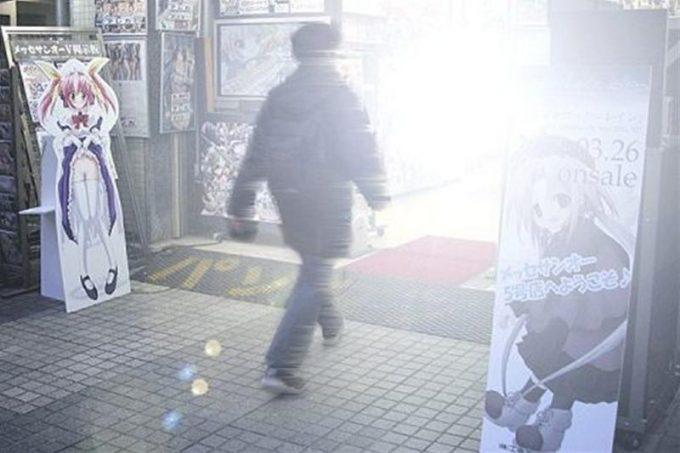 面白画像 聖なる場所へ! 秋葉原のメッセサンオーに入店するオタクが神々しい(笑)otacos_0032