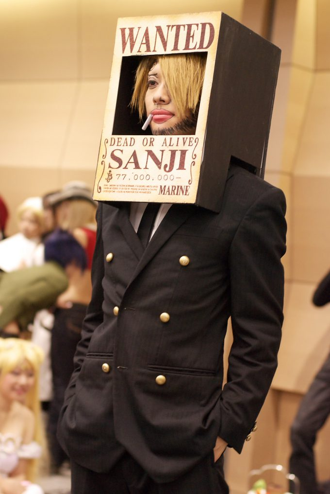 【おもしろコスプレ画像】ONE PIECEで手配書に載っていたサンジコスプレというおもしろい発想(笑)
