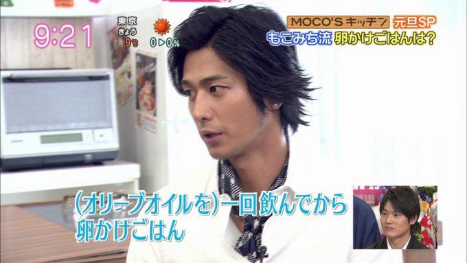 面白画像 ZIP!『MOCO'Sキッチン』の速水もこみち流卵かけごはん(笑)talent_0063