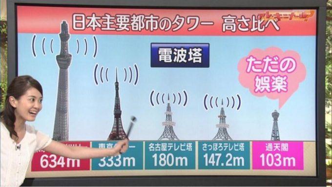 面白画像 痛烈な批判! 関西ローカル『キャスト』で日本の主要都市にあるタワーの高さ比べで通天閣を批判(笑)tvmovie_0055
