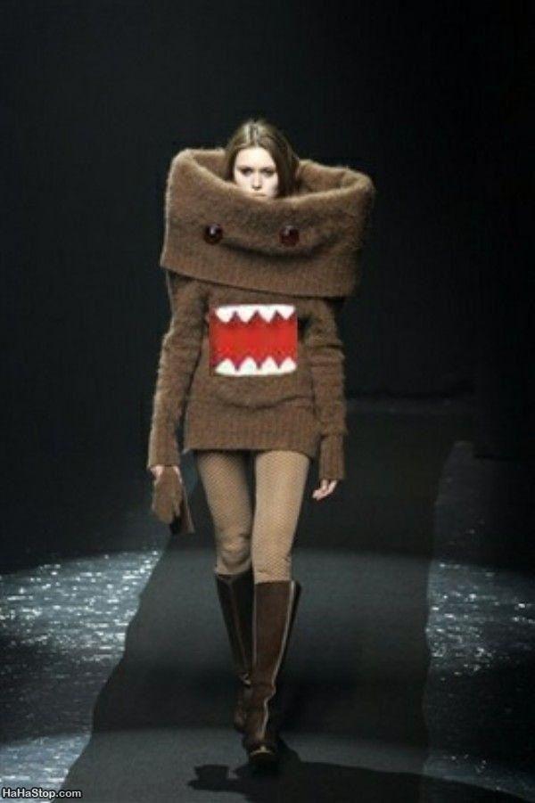 おもしろファッション画像海外のファッションショーにNHKのマスコットキャラ「どーもくん」が登場(笑)beauty_0051