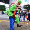 あれ? 渋谷のスクランブル交差点で見かけたマリオとヨッシーの仮装になんか違和感(笑)