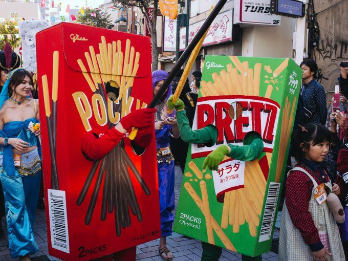 【川崎ハロウィンおもしろ仮装画像】川崎ハロウィンでポッキーvsプリッツサラダの熱いバトルが勃発(笑)helloween_0030