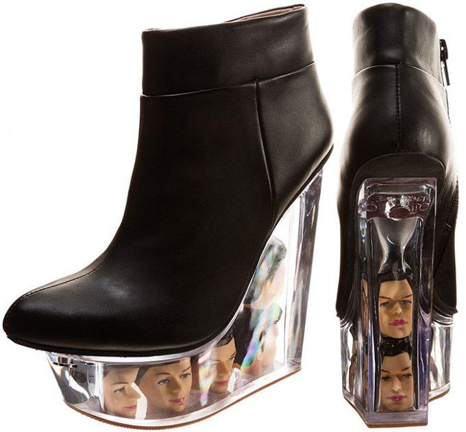 おもしろファッション画像バービー人形の頭がソールに入っているジェフェリーキャンベル「バービーの生首入りブーツ」(笑)beauty_0055_01