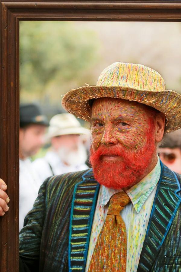 面白画像 本物? 画家ゴッホの自画像仮装をしたストリートパフォーマーがニューオーリンズに出没(笑)helloween_0056