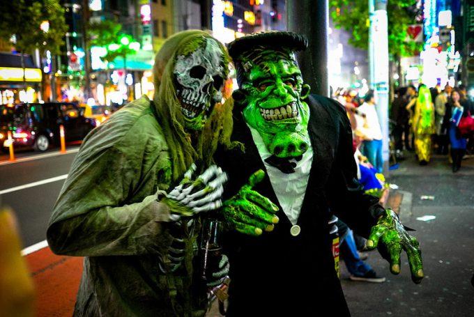 面白画像 六本木ハロウィンで見かけたゾンビとフランケン仮装がレベル高い(笑)helloween_0064