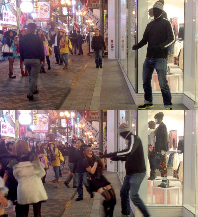 面白画像 身長2メートルのアメリカ人がハロウィンの日に、日本で一晩中こんなイタズラ(笑)helloween_0077