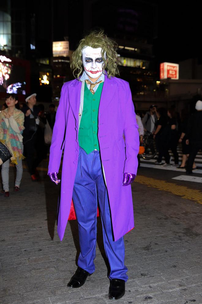 【渋谷ハロウィンおもしろ仮装画像】スクランブル交差点に現れた『ダークナイト』のジョーカーが悪かっこいい(笑)helloween_0081