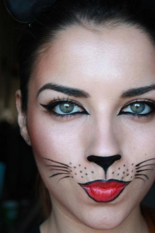 面白画像 男性にウケそうな猫風ハロウィンメイクがおもしろ&かわいい(笑)helloween_0091