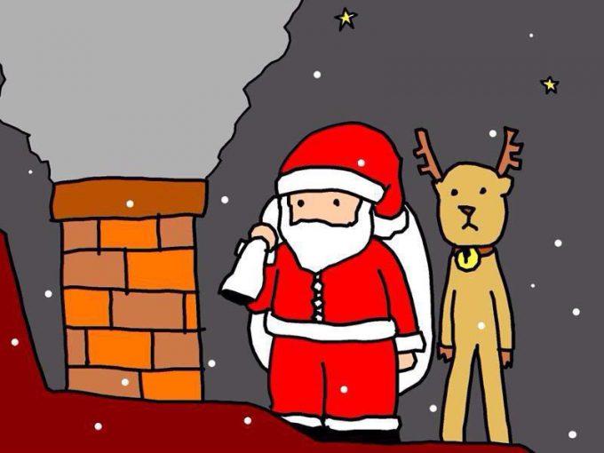 クリスマスおもしろ画像 クリスマスプレゼントを届けようと煙突に来てみたら(笑)christmas_0008
