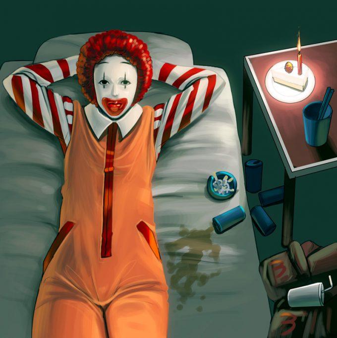 クリスマスおもしろ画像 切ない! ドナルド・マクドナルドのクリスマスイブの過ごし方(笑)christmas_0010