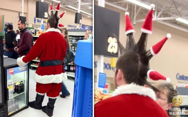 クリスマスおもしろ画像 意外すぎるサンタ! アイダホのウォルマートで見かけたパンクロックなサンタ(笑) christmas_0035