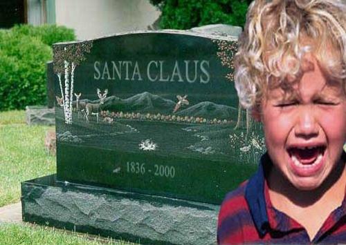 クリスマスおもしろ画像 サンタクロースのお墓で泣き叫ぶ子ども(笑)christmas_0042