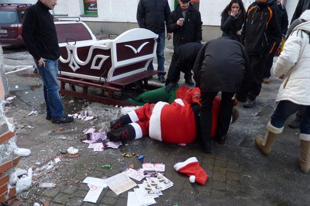 クリスマスおもしろ画像 事故注意! 「サンタだから大丈夫!」と浮かれているとこうなります(笑)christmas_0047