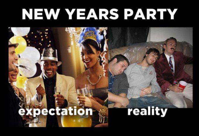 お正月おもしろ画像 NEW YEAR! 理想の年越しパーティーと現実の年越しパーティー(笑)newyear_0013