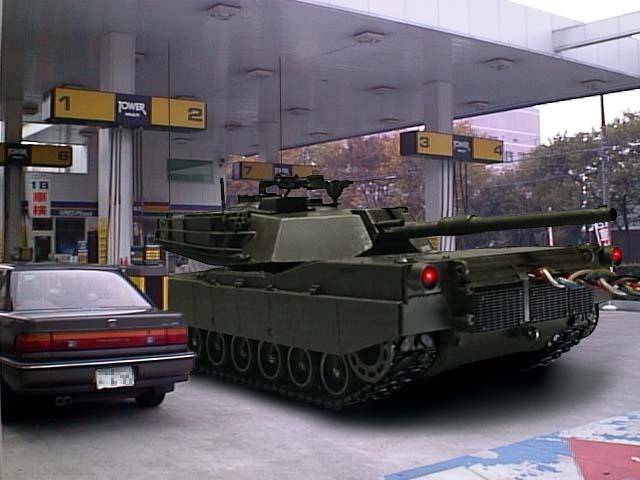 海外面白画像 給油できるの? ガソリンスタンドで通常考えられないような車を発見(笑)foreign_0058