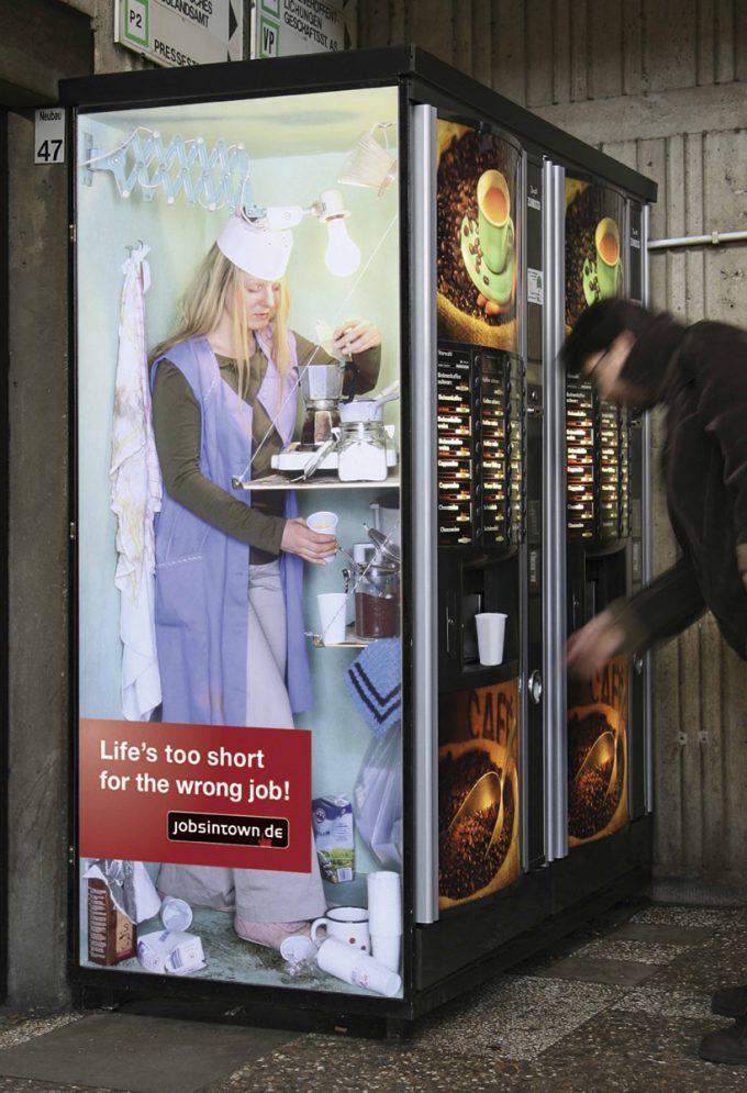 海外面白画像 中の人は大変! ドイツの求人サイト『jobsintown.de』広告が面白い発想(笑)foreign_0054