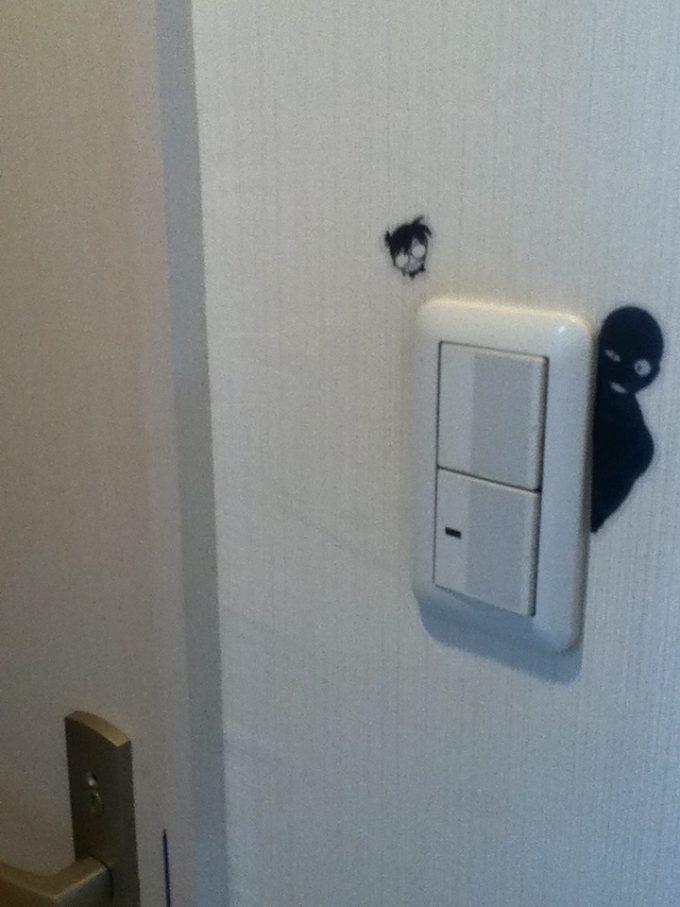 チラッ! 照明スイッチの横からこっそり覗くコナンの犯人(笑)conan_0005