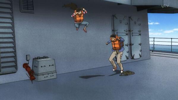 【名探偵コナンおもしろ画像】本当に高校生? 毛利蘭の跳躍力が人間とは思えません(笑)conan_0037