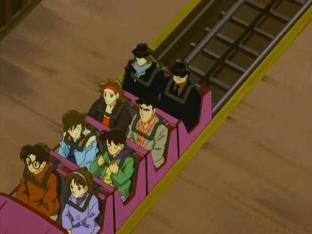 さすがプロ! 黒ずくめの組織ジンとウォッカ、ジェットコースターに乗るシーンがシュール(笑)conan_0040