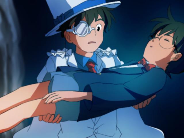 空から人が! 怪盗キッドと江戸川コナンの『天空の城ラピュタ』パロディ(笑)conan_0063