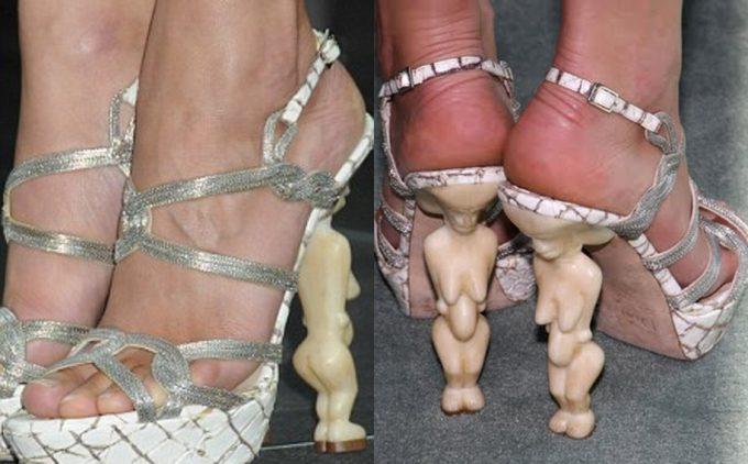 気味悪い! 海外の怪しげなショップで売っていそうな人形をヒールにした靴(笑)beauty_0067