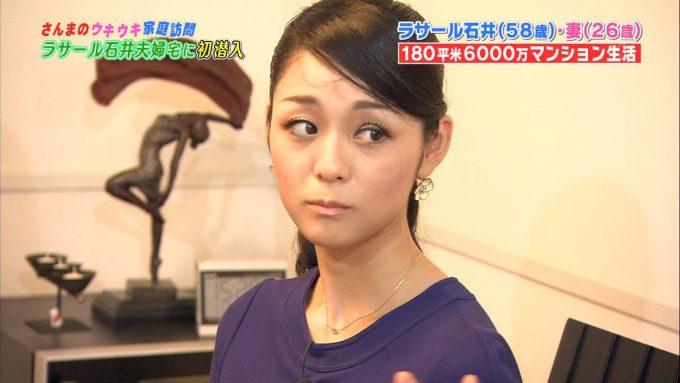 【テレビハプニングおもしろ画像】ラサール石井の美人妻 石井桃圭さん、テレビ出演でつけまつ毛ズレの放送事故(笑)