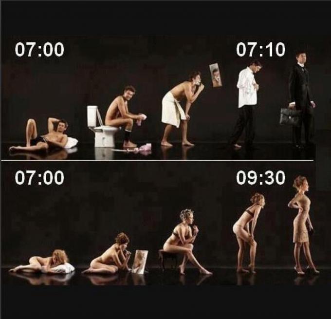 あるある! 朝起きてから出かけるまでの男女の違い(笑)foreign_0071