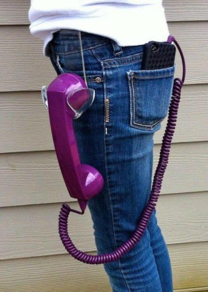 時代を逆行! 大人が落ち着くスマホで使える受話器型ハンドセット(笑)foreign_0072