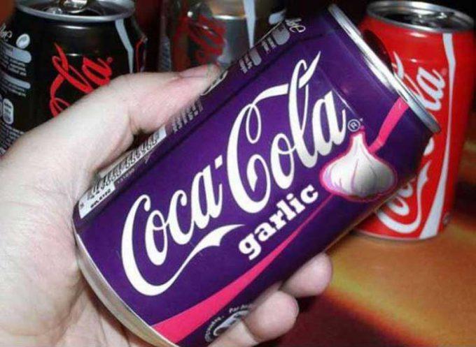 不味そう! 飲んだら口が臭くなりそうなコカ・コーラ ガーリック味(笑)foreign_0088