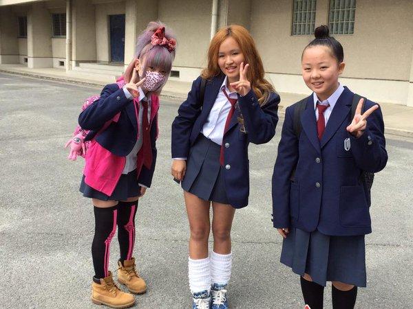 中学生? いまどきの女子中学生の入学式ファッション(笑)kids_0083_01