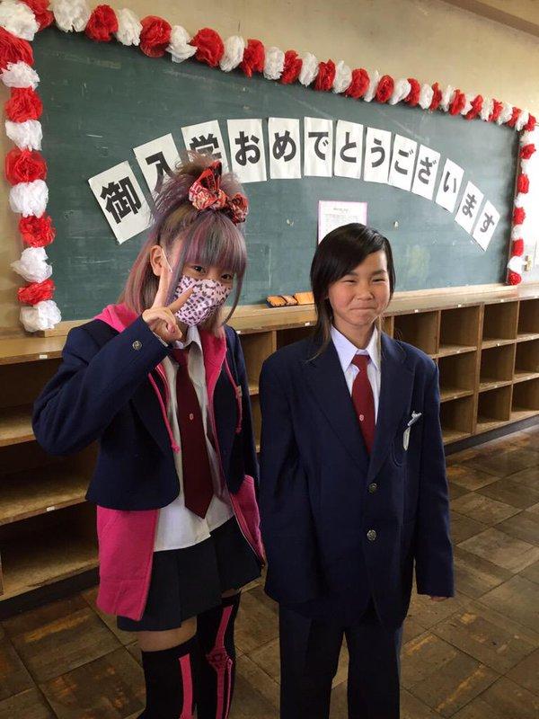 中学生? いまどきの女子中学生の入学式ファッション(笑)kids_0083_02