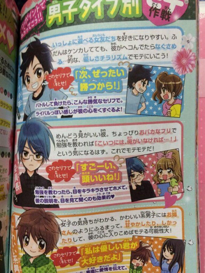 少女漫画雑誌『ちゃお』で紹介された「男子タイプ別モテ作戦」(笑)kids_0104