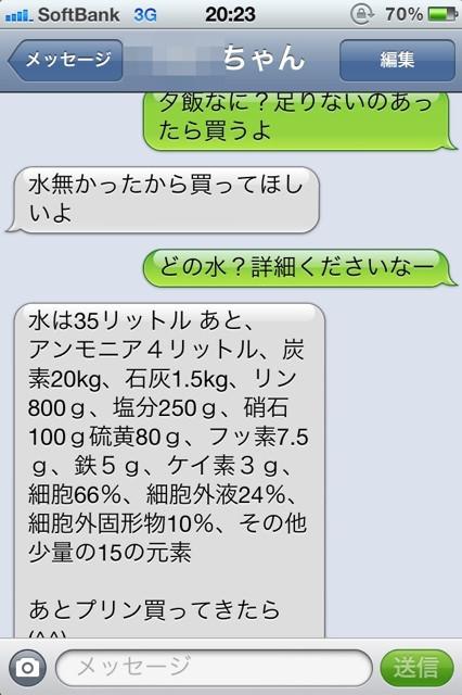 【LINEおもしろ画像】LINEで水がないから買ってきてほしいと頼まれたら(笑)netsns_0098