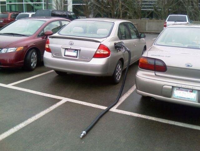 おい! 駐車中の車にくっついていた長いもの(笑)syame_0079