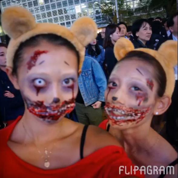 キャー! かわいい女子かと思って振り返ったらゾンビな渋谷ハロウィン仮装(笑)helloween_0046_01